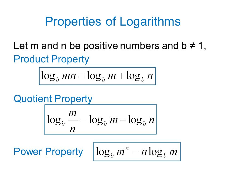 5.4 Properties of Logarithms 3/1/ ppt download