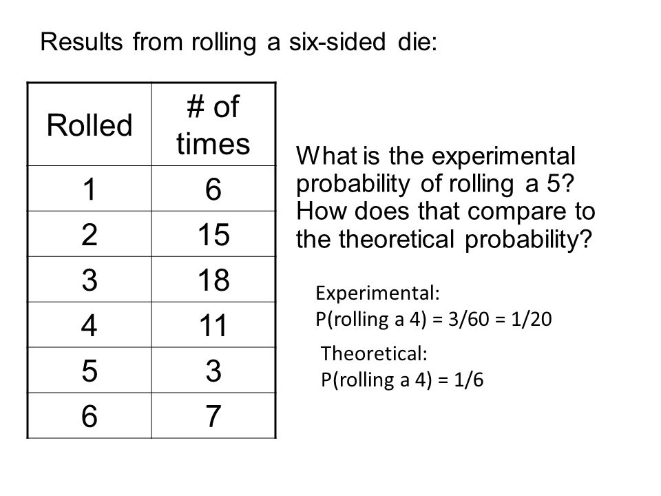 Theoretical And Experimental Probability Worksheet Worksheets for ...