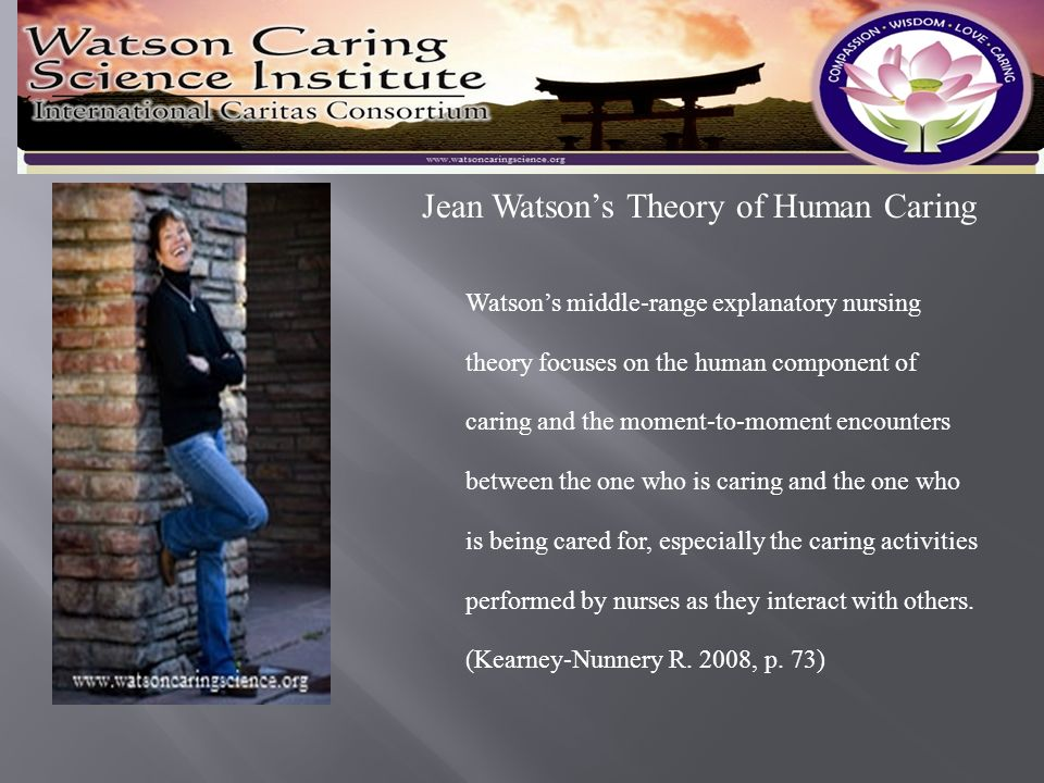 Jean watson s theory of human caring and community health nursing