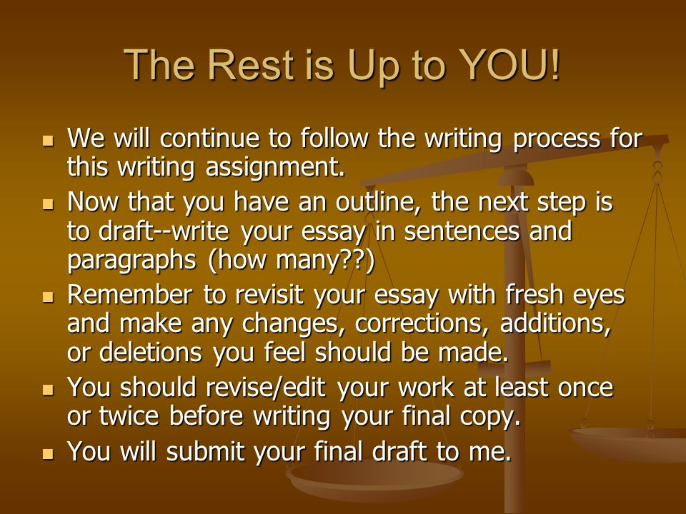 how to write a good process essay