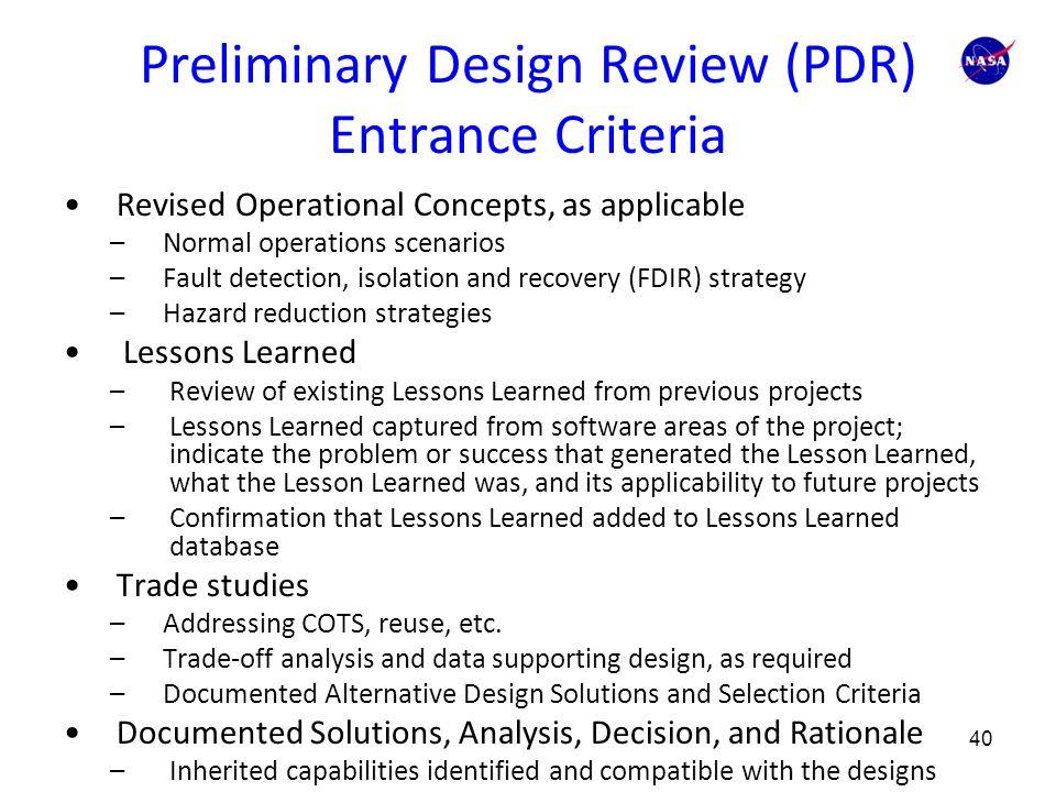 Preliminary Design Review - NASA