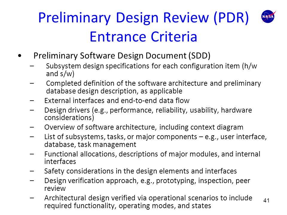 Appendix G. Technical Review Entrance and Success Criteria ...