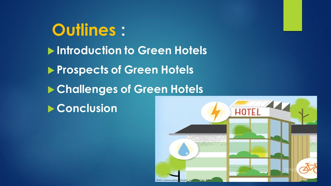 prospects and challenges of green hotels - ppt download
