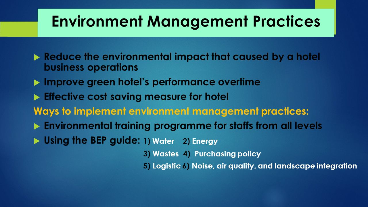 Prospects And Challenges Of Green Hotels Ppt Download
