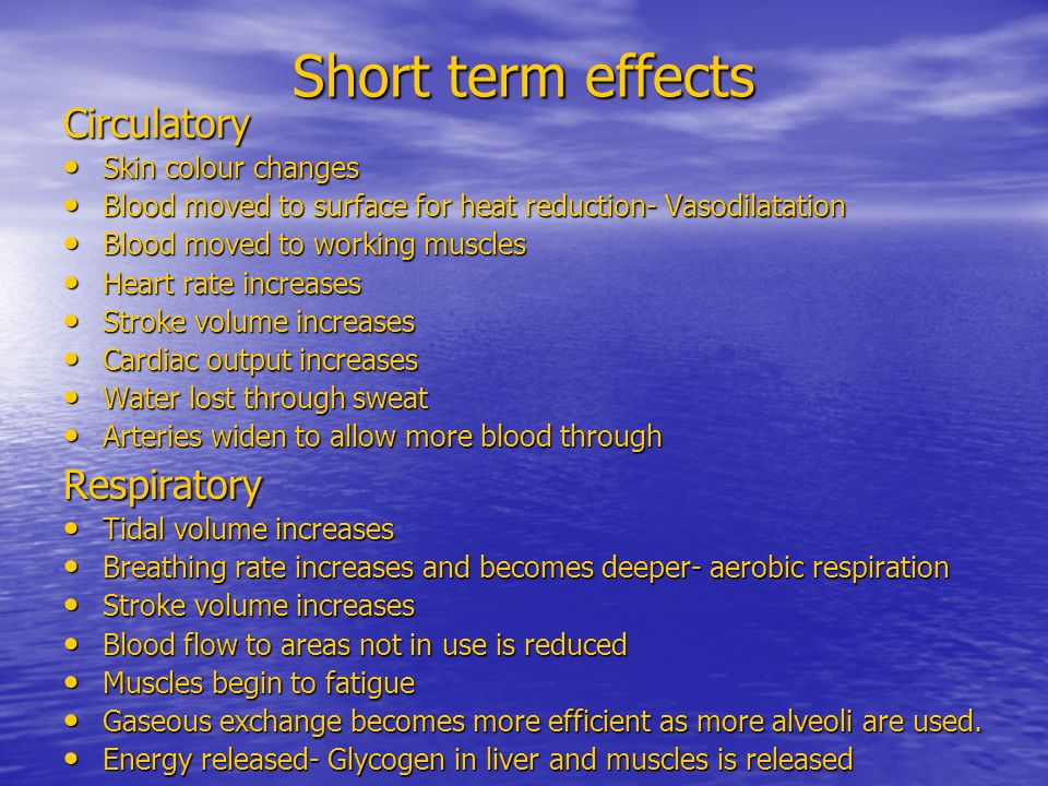 Short Term Effects : Long and short term effects of exercise ppt video online