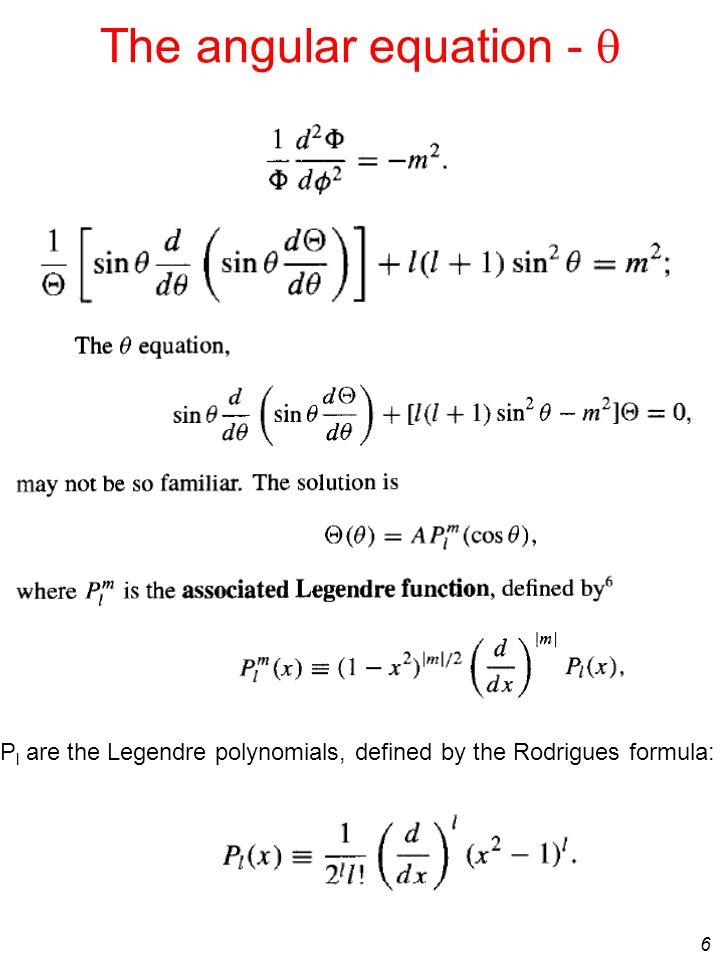 The angular equation - q