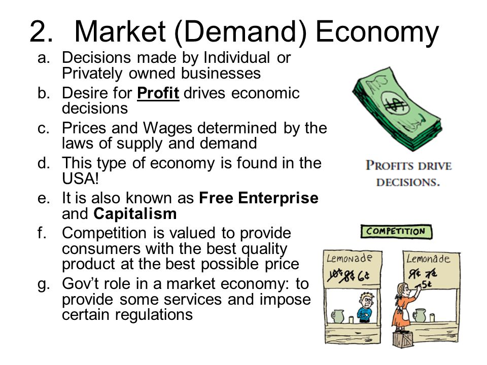 Explain the Advantages & Disadvantages of Free Market Economies
