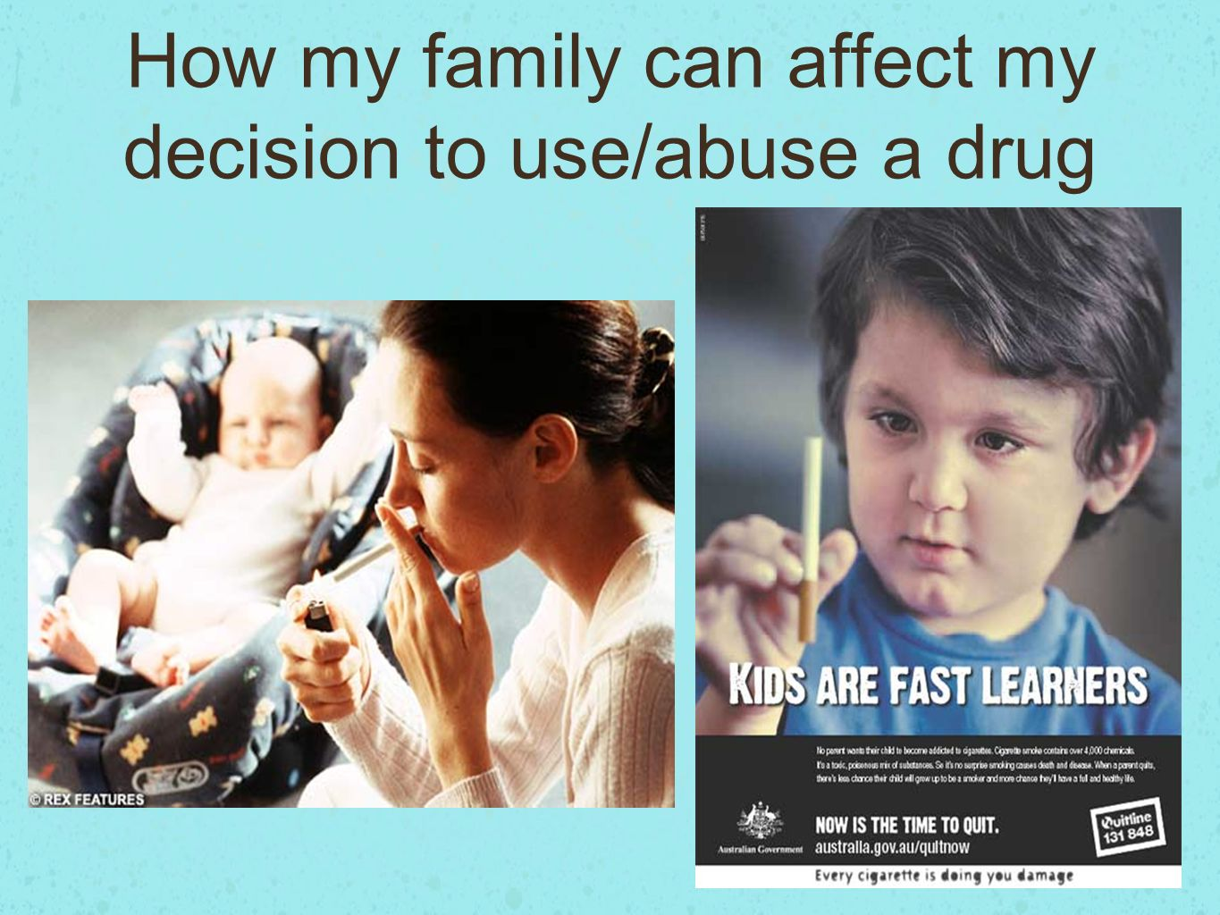 how drugs affect families presentation Drug abuse among teenagers introduction for the past twenty years, the country   natural or synthetic substance which (when taken into a living body) affects its   of time alone worrying about the financial burden he is placing on his family.