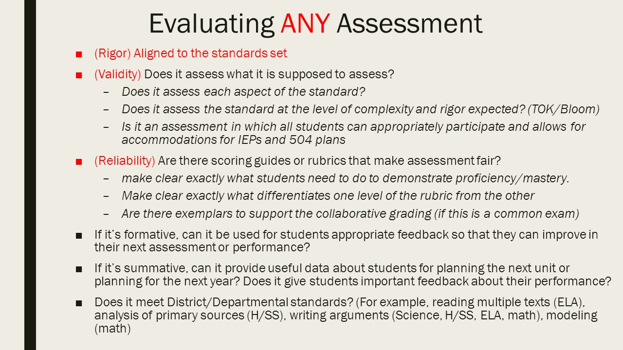 Assess the validity essay