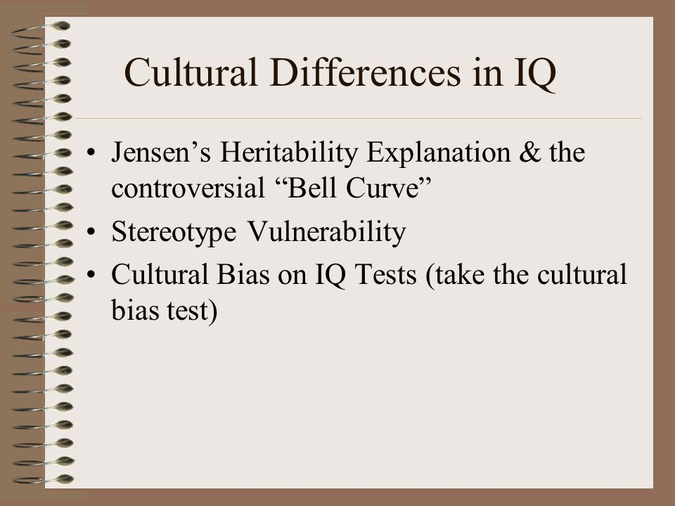 Cultural Differences in IQ