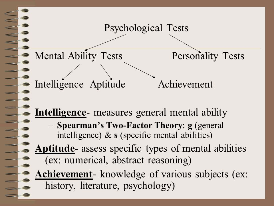 Mental Ability Tests Personality Tests
