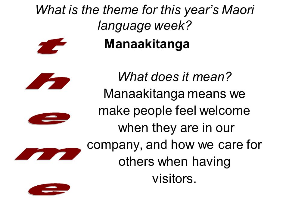Te reo maori language week ppt download for What does diction mean