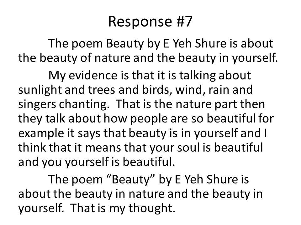 10 Response 7 The Poem Beauty