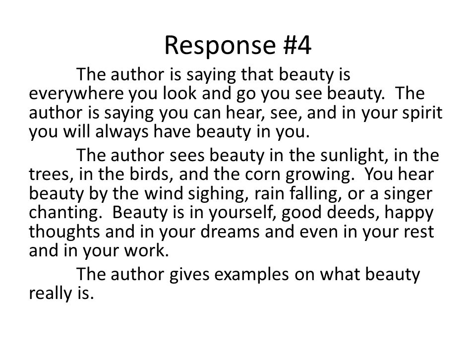 Response #4