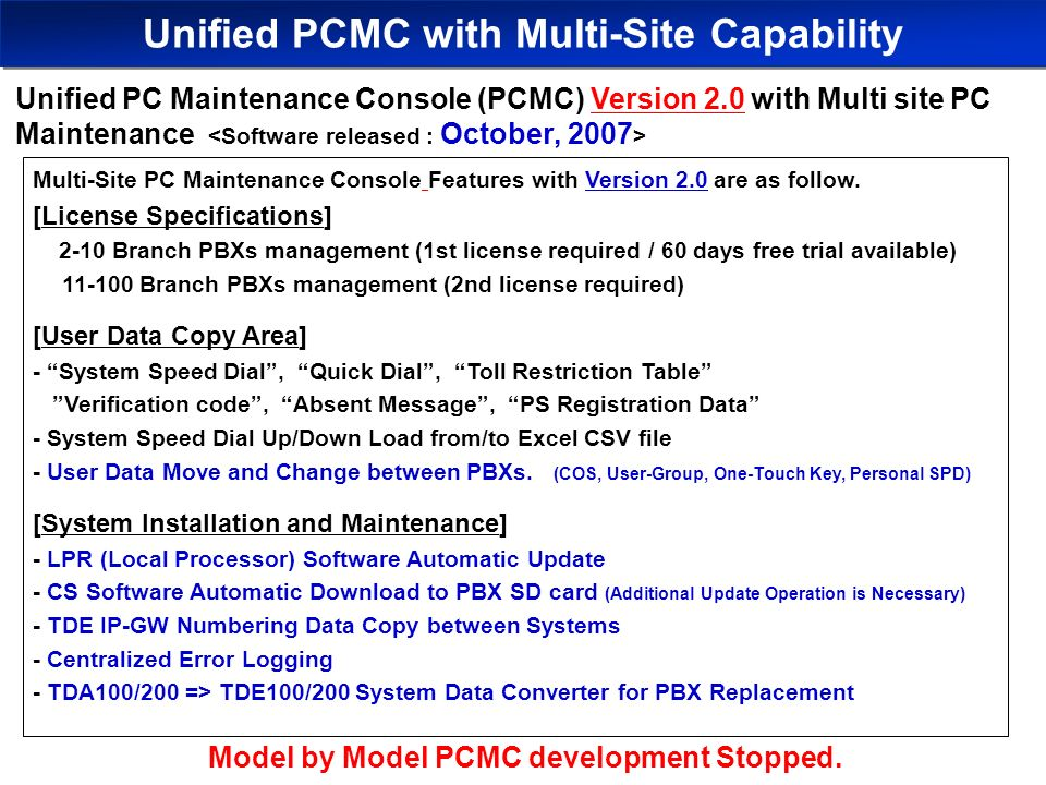 pbx unified maintenance console manual