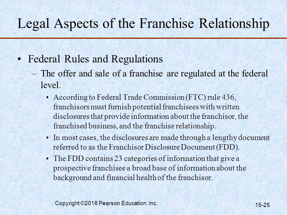 franchisor and franchisee relationship pdf file