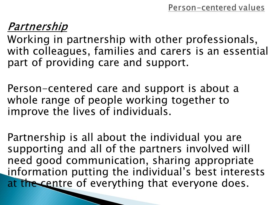 how to meet person centred care needs
