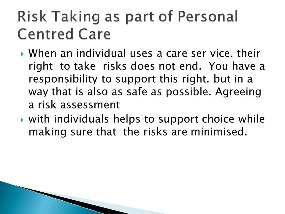 person centred risk essay Free essay: person-centred 21 a physical disability is any disability that affects the physical function of one or more limbs physical disabilities can be.