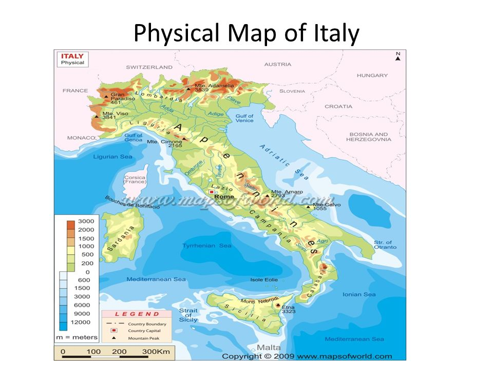 Geography And Absolute Location Ppt Video Online Download - Physical map of italy