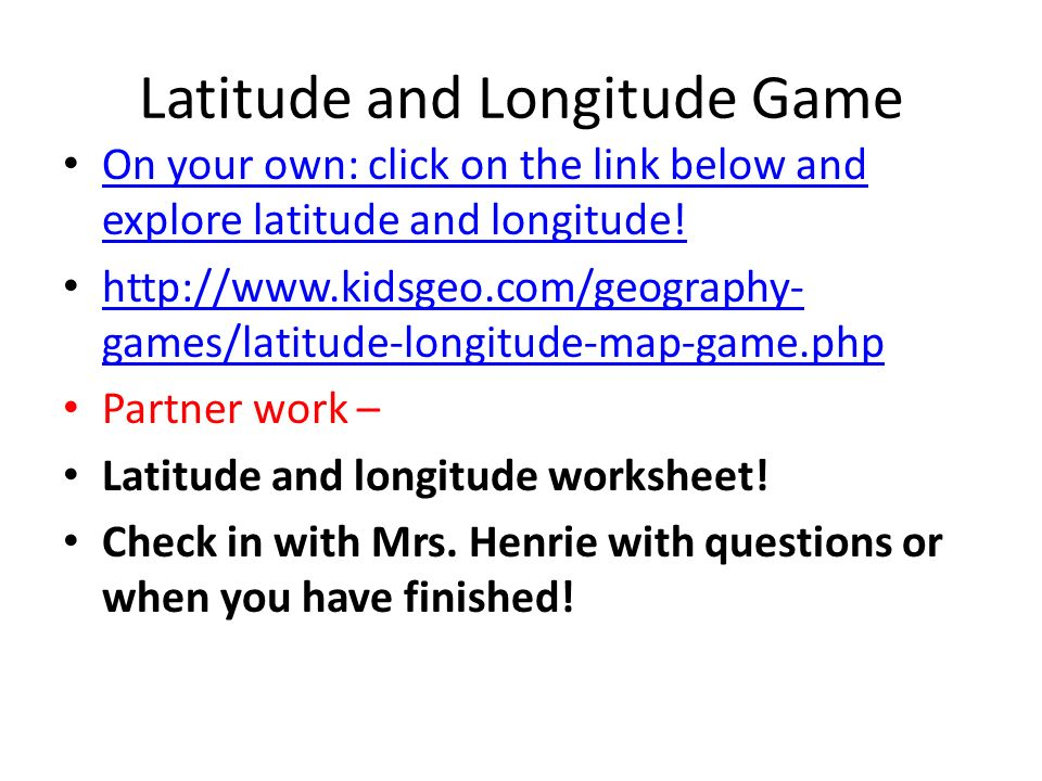 Geography and Absolute Location - ppt download