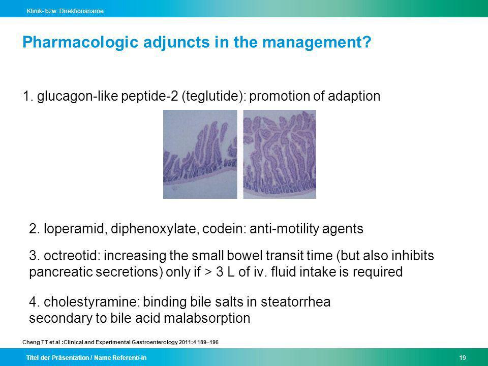 Pharmacologic adjuncts in the management