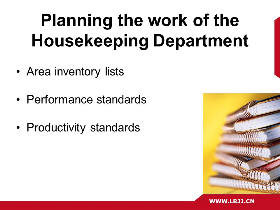 The role of housekeeping in hospitality operations ppt video planning the work of the housekeeping department altavistaventures Images