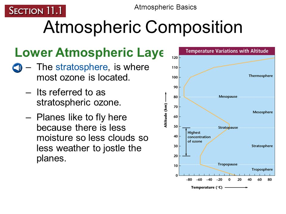 understanding the ozone and its composition Each gas has its own composition about 78% nitrogen  ozone layer is found in  this layer  need more help understanding layers of atmosphere we've got.