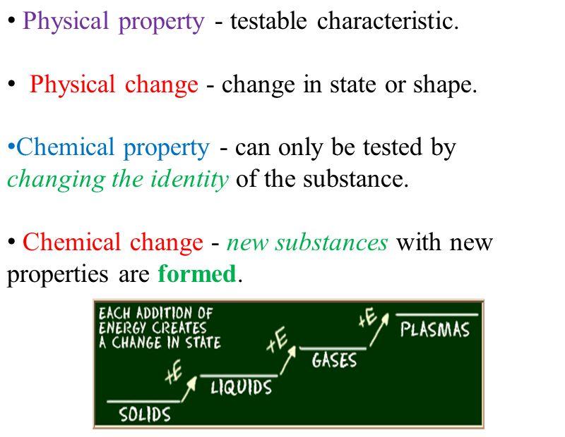 Properties of matter.