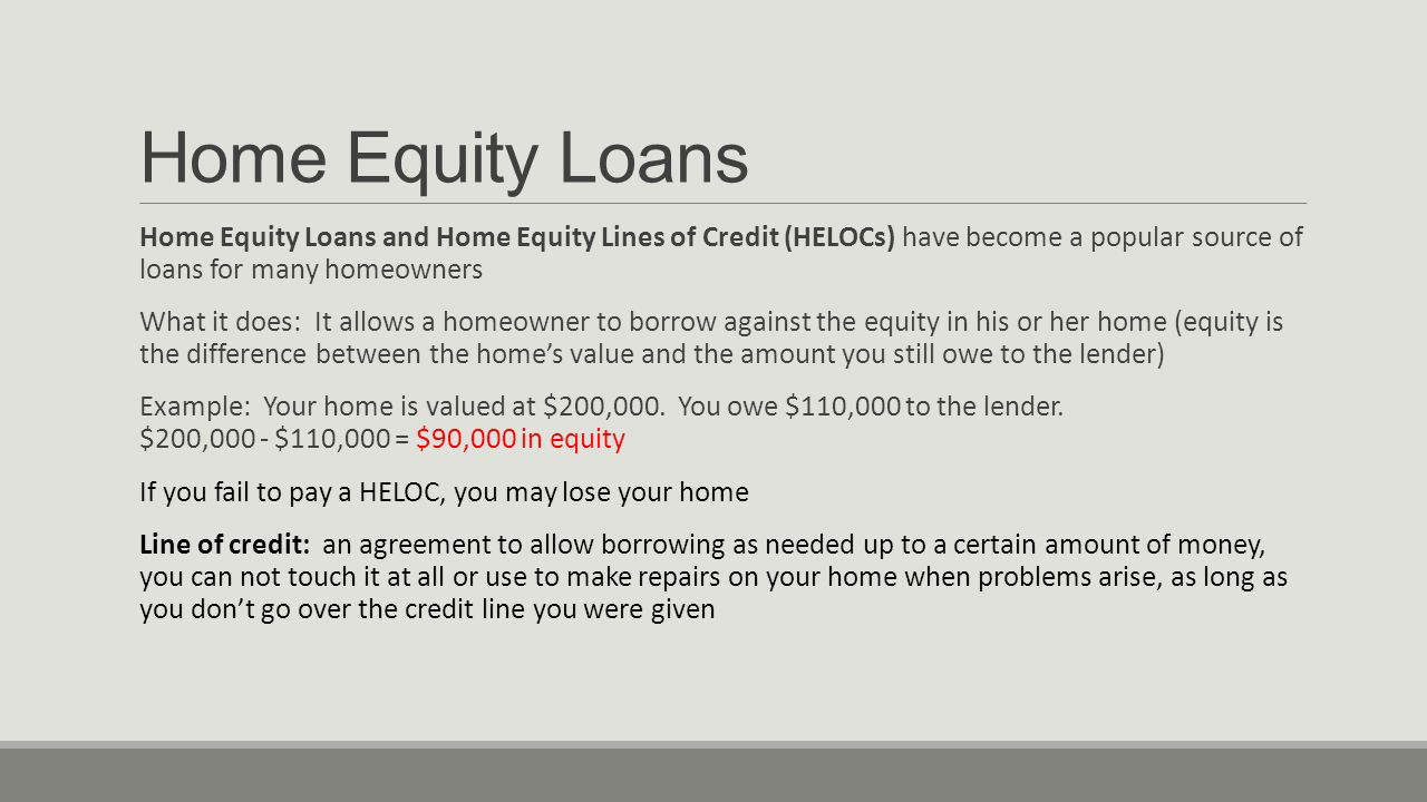 how long to get an equity loan