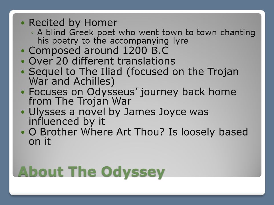 a narrative of the adventures of ulysses in the odyssey by homer The odyssey study guide contains a biography of homer, literature essays, a complete e-text, quiz questions, major themes, characters, and a full summary and analysis.