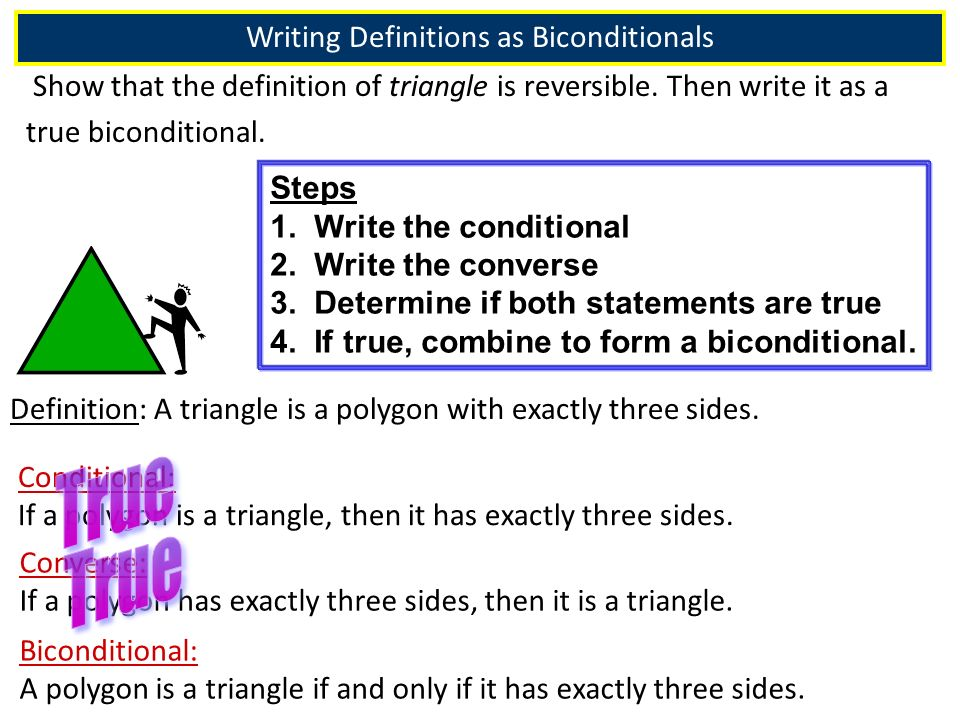 Recall Section 2-3: Biconditionals & Definitions Objectives: - ppt ...