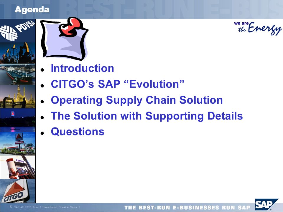 CITGO's SAP Evolution Operating Supply Chain Solution
