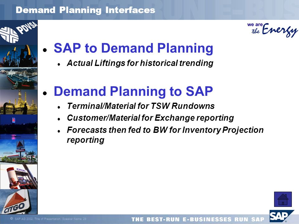 Demand Planning Interfaces