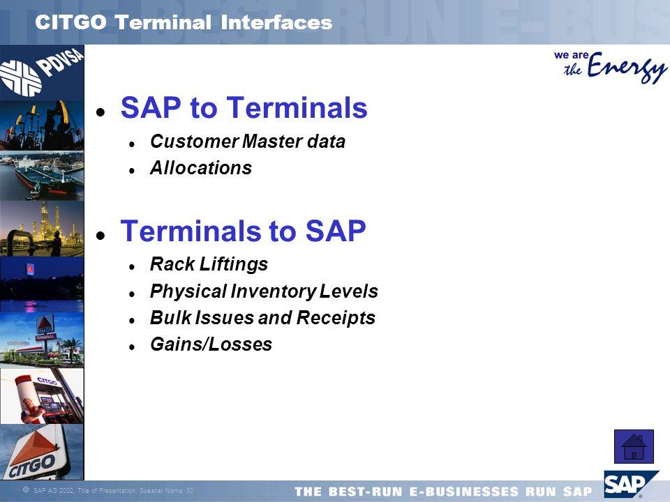 CITGO Terminal Interfaces