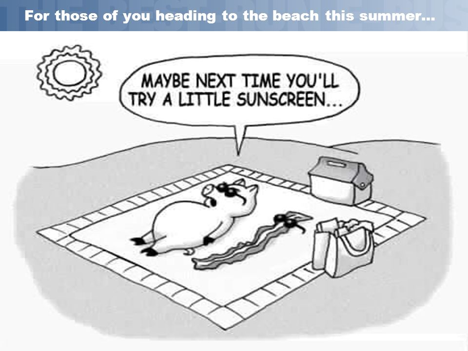 For those of you heading to the beach this summer…