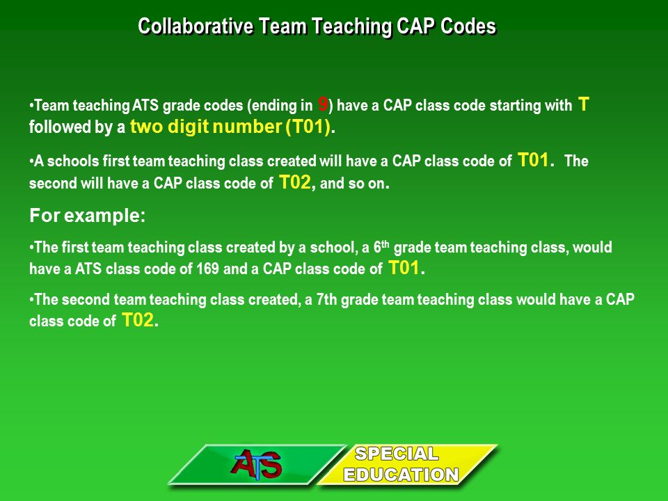 Collaborative Teaching Examples ~ The ats function for creating any new official class is
