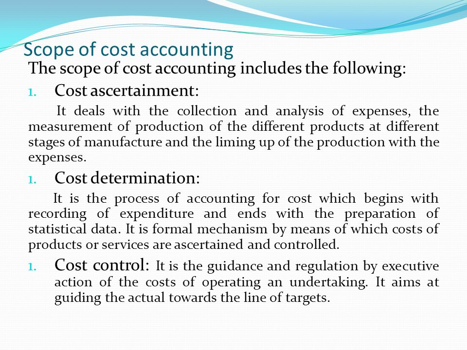 scope of cost accounting pdf