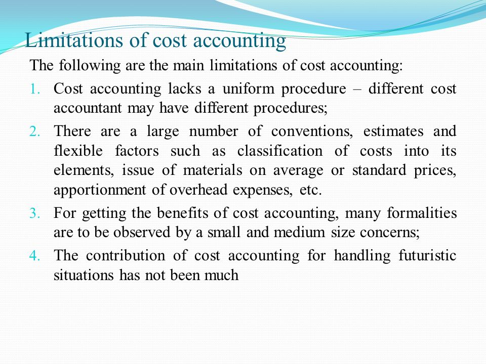 advantages of standard costing accounting essay Essay on process costing | accounting  essay # 5 advantages of process costing: 1 costs are computed at the end of a particular period  here the standard.