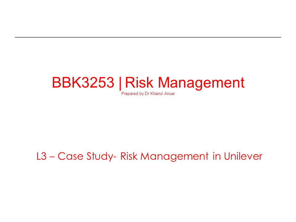 case study on risk management in business 20 classic case studies every business student to just about any kind of business in these case studies lesson in supply chain risk management share.