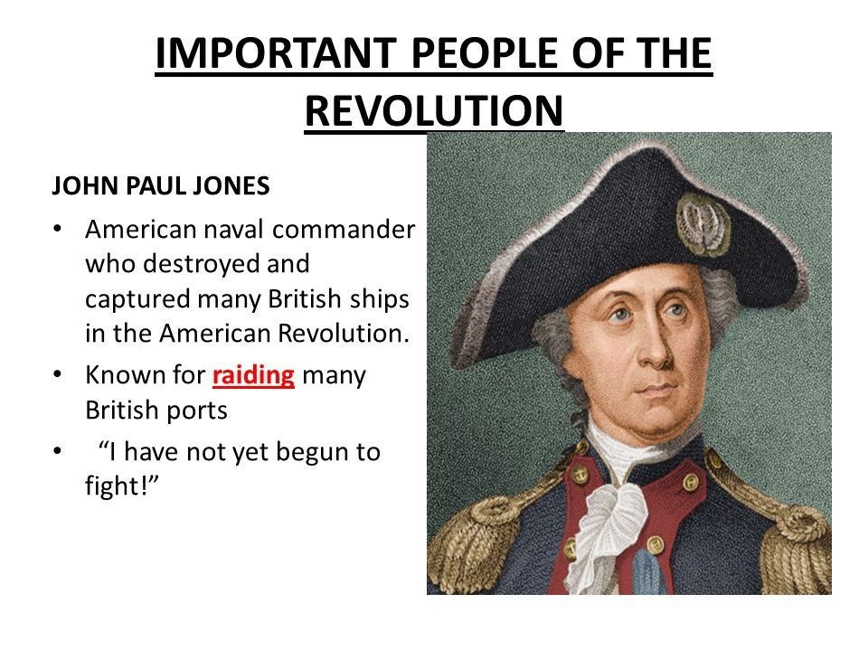 IMPORTANT PEOPLE OF THE REVOLUTION - ppt download