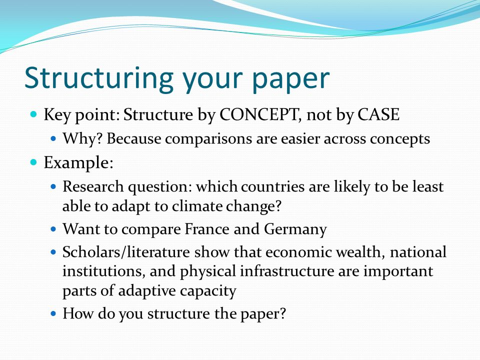 structure of a research paper Literary research paper structure (a loose outline to follow) i introduction a catches the reader's attention b indicates topic and narrows it.