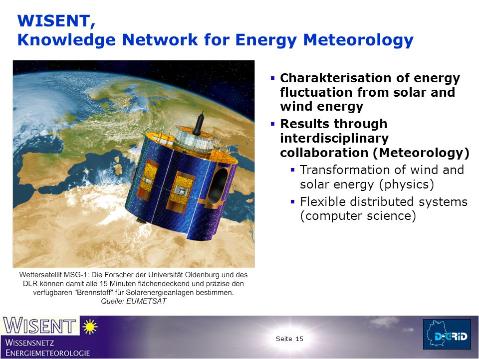 WISENT, Knowledge Network for Energy Meteorology