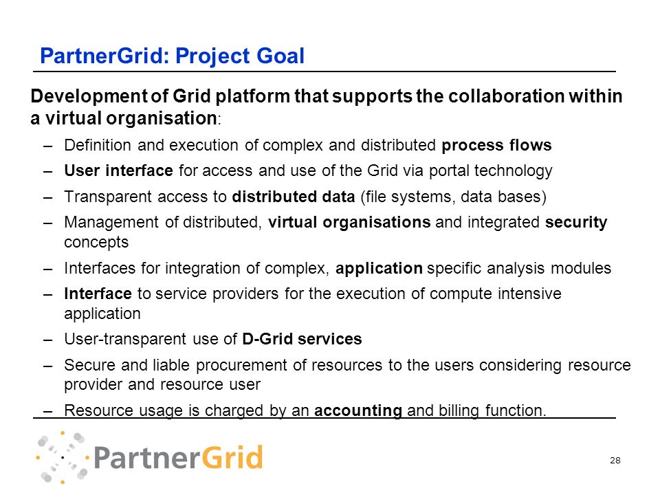 PartnerGrid: Project Goal