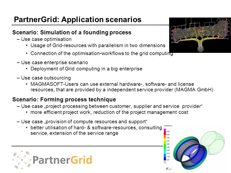 PartnerGrid: Application scenarios