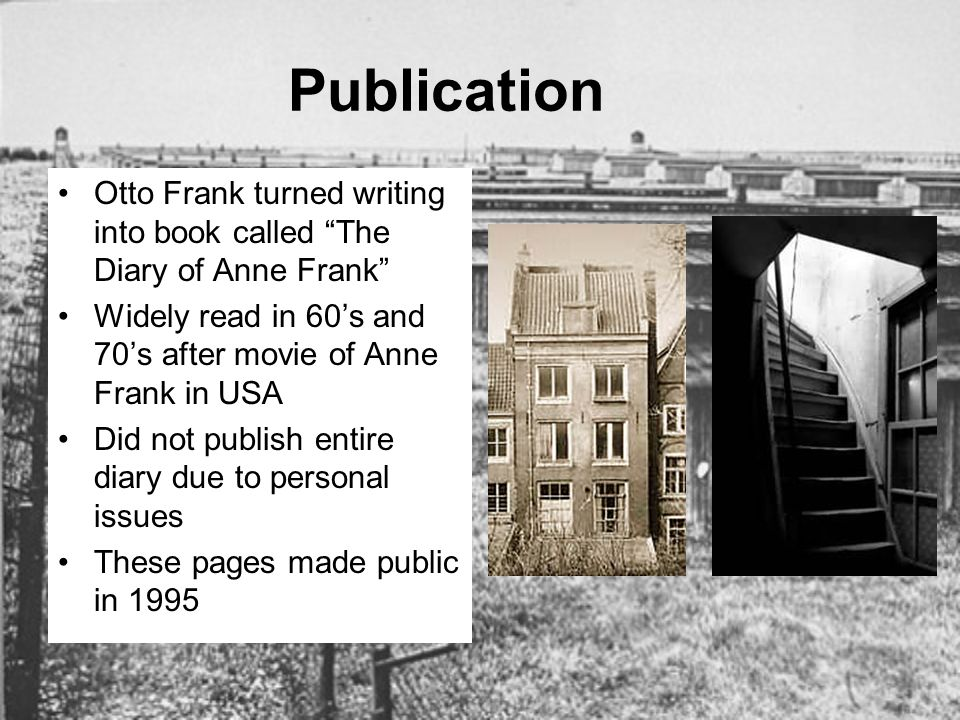 anne frank essay give Anne frank: essay questions in your opinion, how does anne change during her time in hiding give at least 3 examples anne develops into a thoughtful, mature girl who feels ready to conquer the world she has a better outlook on life compared to her first year in hiding.