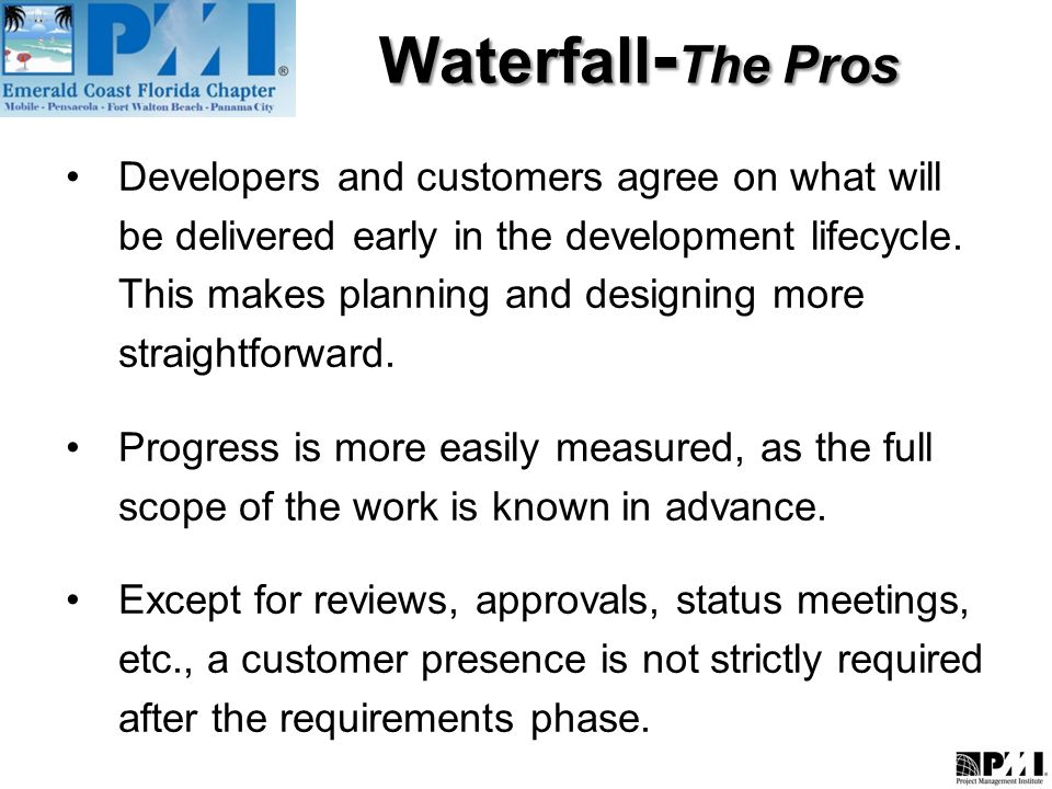 Agile vs waterfall what is agile methodology ppt video for Waterfall design pros and cons