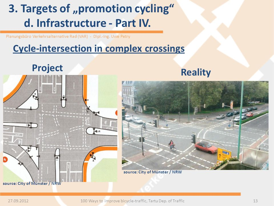 "3. Targets of ""promotion cycling d. Infrastructure - Part IV."