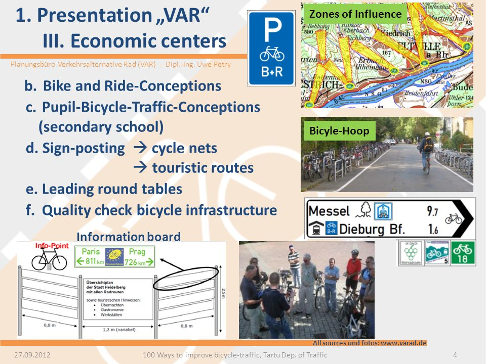 "1. Presentation ""VAR III. Economic centers"