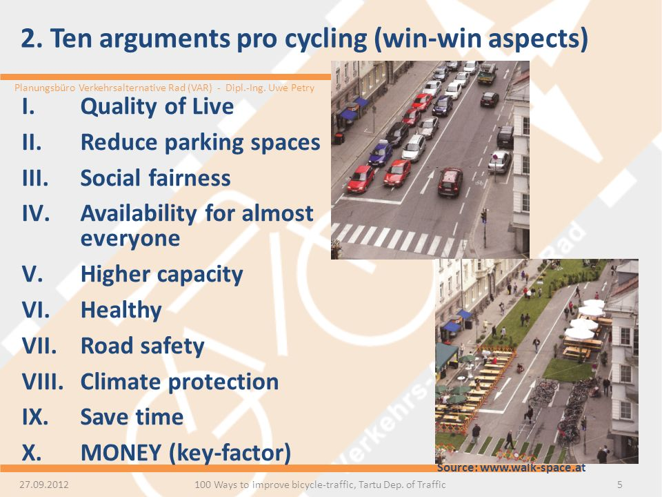 2. Ten arguments pro cycling (win-win aspects)
