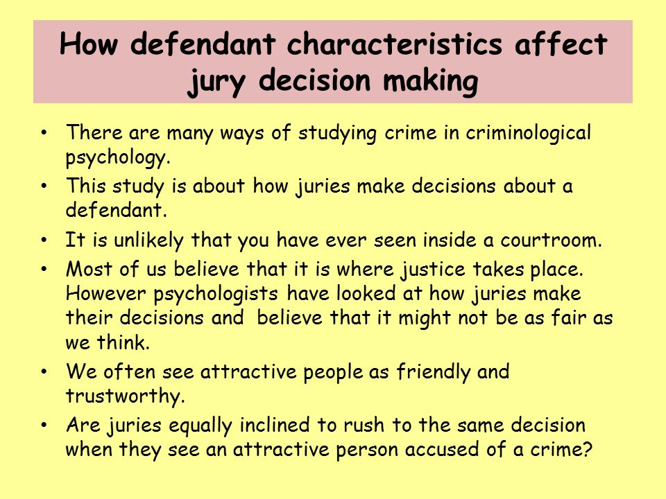Lesson 6: Making Decisions by Group: The Jury System